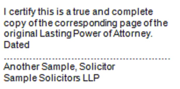 Lasting Power Of Attorney Stamp