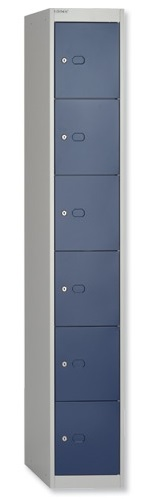 Blue 6 Door Locker