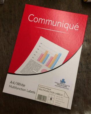 Communique-Labels