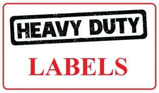 Avery Heavy Duty Labels In Silver And White 12