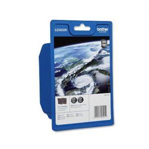 Brother Inkjet Cartridge Page Life 600pp Black Ref LC985BKBP2 [Pack 2] | 102517