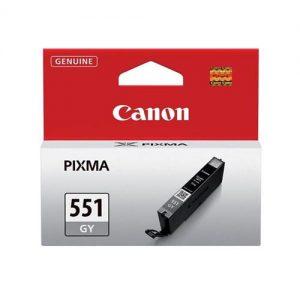 Canon CLI-551GY Inkjet Cartridge Page Life 125 Photos Grey Ref 6512B001 | 103449