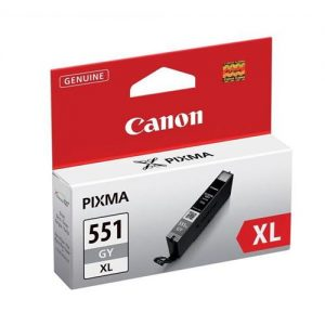 Canon CLI-551GY XL Inkjet Cartridge Page Life 275 Photos Grey Ref 6447B001   103458
