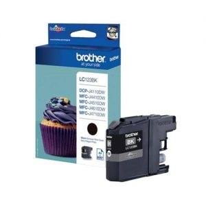 Brother Inkjet Cartridge Page Life 600pp Black Ref LC123BK | 103480