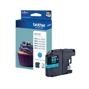 Brother Inkjet Cartridge Page Life 600pp Cyan Ref LC123C | 103481