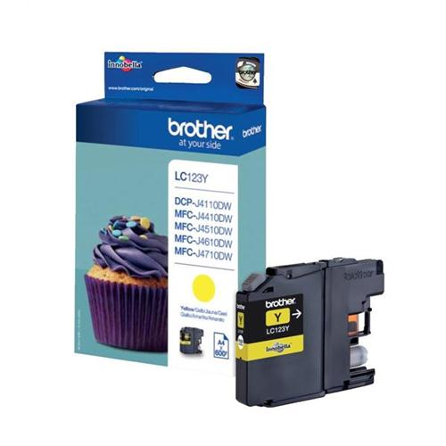 Brother Inkjet Cartridge Page Life 600pp Yellow Ref LC123Y | 103483