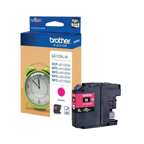 Brother Inkjet Cartridge Page Life 1200pp Magenta Ref LC125XLM | 103488