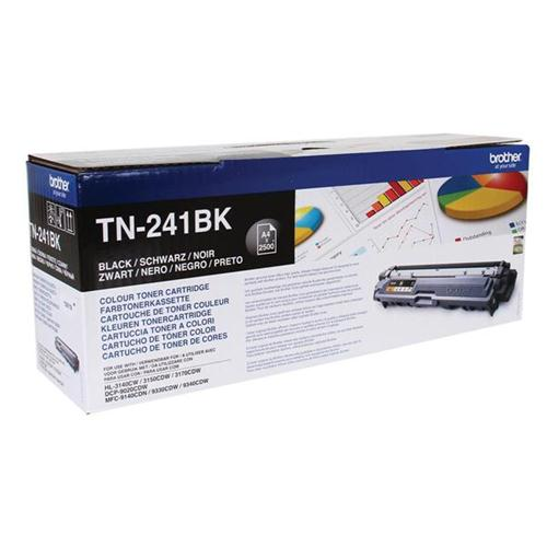Brother Laser Toner Cartridge Page Life 2500pp Black Ref TN241BK | 104858