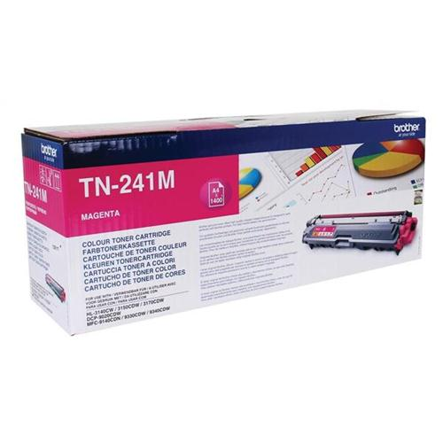 Brother Laser Toner Cartridge Page Life 1400pp Magenta Ref TN241M | 104861