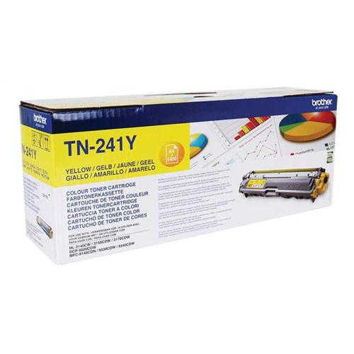 Brother Laser Toner Cartridge Page Life 1400pp Yellow Ref TN241Y | 104862