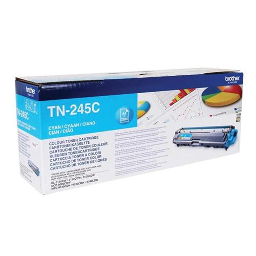 Brother Laser Toner Cartridge Page Life 2200pp Cyan Ref TN245C | 104865