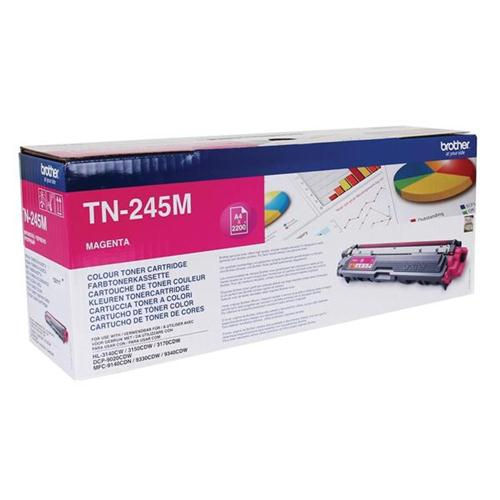 Brother Laser Toner Cartridge Page Life 2200pp Magenta Ref TN245M   104866