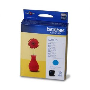 Brother Inkjet Cartridge Page Life 300pp Cyan Ref LC121C | 107919