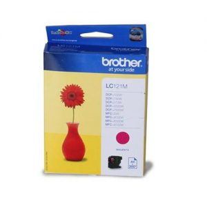 Brother Inkjet Cartridge Page Life 300pp Magenta Ref LC121M | 107920