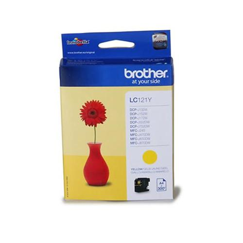 Brother Inkjet Cartridge Page Life 300pp Yellow Ref LC121Y | 107921