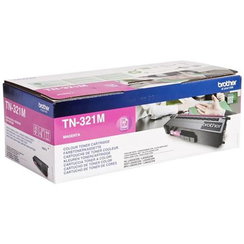 Brother Laser Toner Cartridge Page Life 1500pp Magenta Ref TN321M | 112051