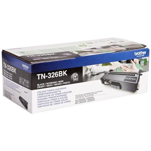 Brother Laser Toner Cartridge High Yield Page Life 4000pp Black Ref TN326BK | 112057
