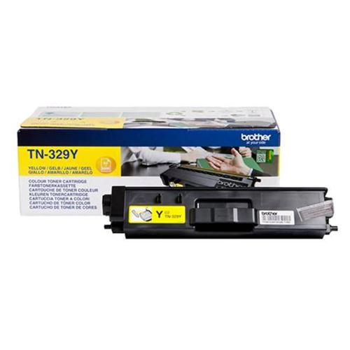 Brother Laser Toner Cartridge Super High Yield Page Life 6000pp Yellow Ref TN329Y | 112066