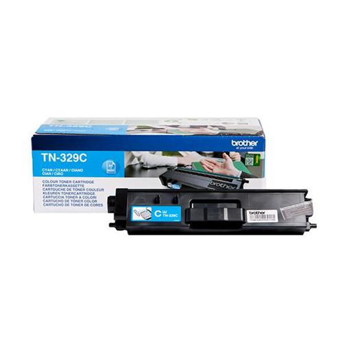 Brother Laser Toner Cartridge Super High Yield Page Life 6000pp Cyan Ref TN329C | 112067