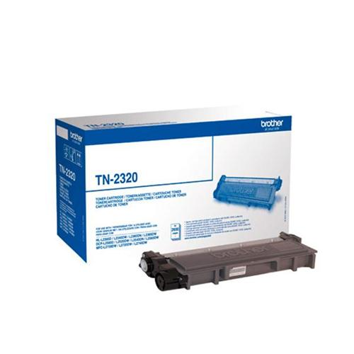 Brother Laser Toner Cartridge High Yield Page Life 2600pp Black Ref TN2320 | 113373