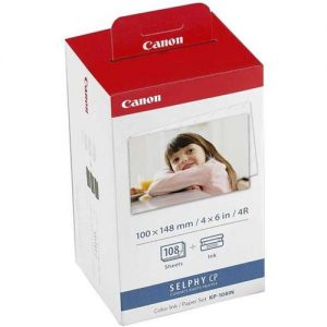 Canon KP-108IN Inkjet Cartridge Colour Multipack and Photo Paper Ref 3115B001AA | 116355