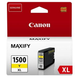 Canon PGI-1500XLC Inkjet Cartridge High Yield 12ml Page Life 935pp Yellow Ref 9195B001AA | 123296