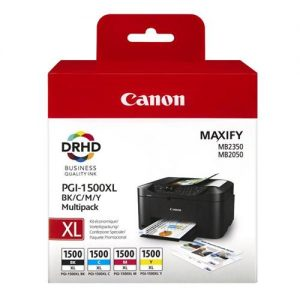 Canon PGI-1500XL Inkjet Cartridge Cyan/Magenta/Yellow/Black Multipack Ref 9182B004AA [Pack 4] | 123297