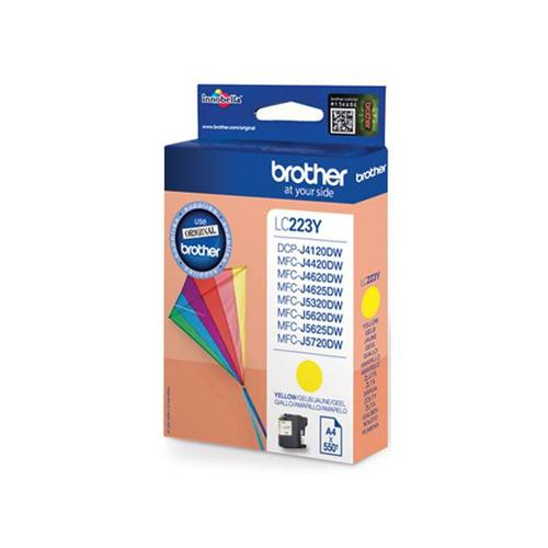 Brother Inkjet Cartridge 5.9ml Page Life 550pp Yellow Ref LC223Y | 123308