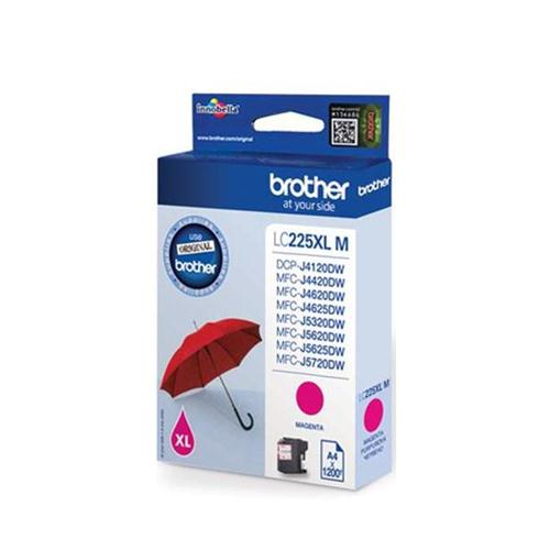Brother Inkjet Cartridge High Yield 11.8ml Page Life 1200pp Magenta Ref LC225XLM | 123311