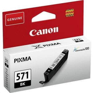 Canon CLI-571 InkJet Cartridge Page Life 350pp Black Ref 0385C001 | 132848