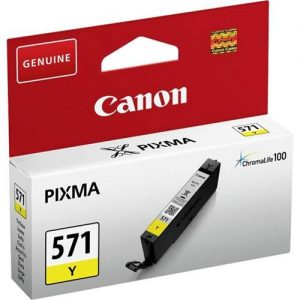 Canon CLI-571 InkJet Cartridge Page Life 340pp Yellow Ref 0388C001 | 132852