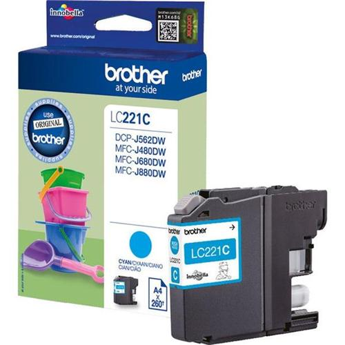 Brother LC221C Inkjet Cartridge Cyan Ref LC221C | 132906