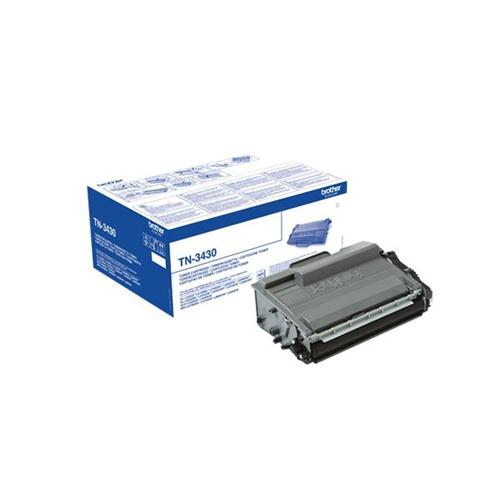 Brother TN3430 Laser Toner Cartridge Page Life 3000pp Black Ref TN3430 | 142697