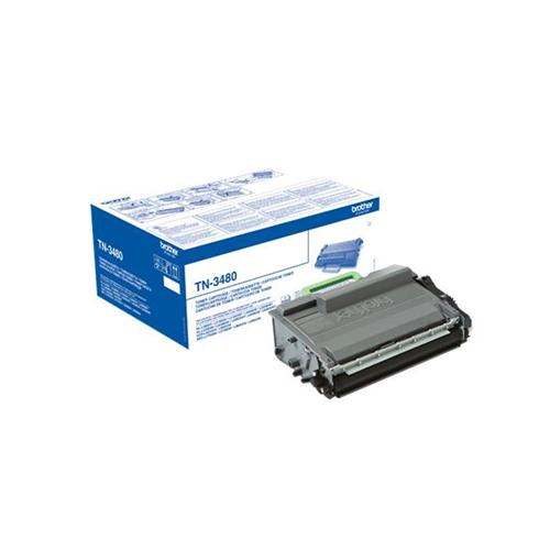 Brother TN3480 Laser Toner Cartridge High Yield Page Life 8000pp Black Ref TN3480 | 143837