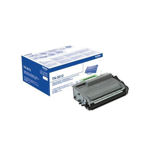 Brother TN3512 Laser Toner Cartridge Ultra High Yield Page Life 12000pp Black Ref TN3512 | 145011
