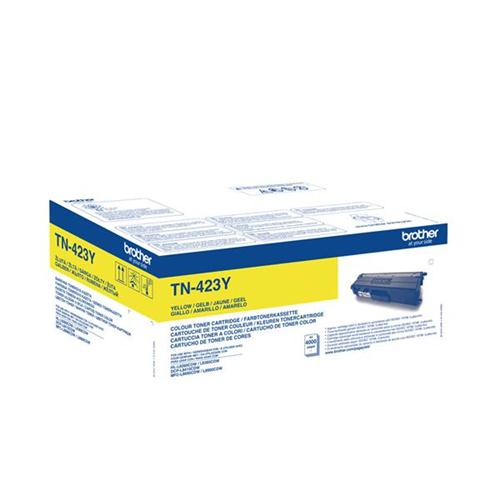 Brother TN423Y Toner Cartridge High Yield Page Life 4000pp Yellow Ref TN423Y | 147684