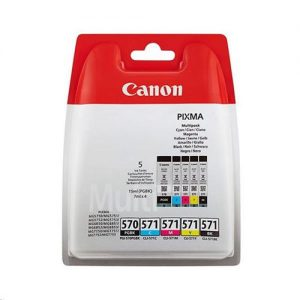 Canon PGI-570/CLI-571 InkJet Cartridge Page Life 1374pp Colour/Black x2 Ref 0372C004 [Pack 5] | 151173