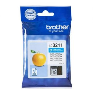 Brother LC3211C Inkjet Cartridge Page Life 200pp Cyan Ref LC3211C | 159634