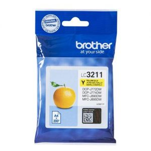 Brother LC3211Y Inkjet Cartridge Page Life 200pp Yellow Ref LC3211Y   161844