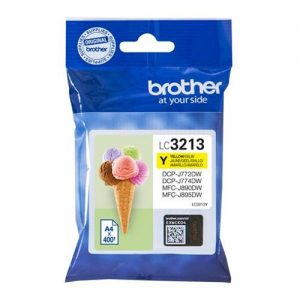 Brother LC3213Y Inkjet Cartridge Page Life 400pp Yellow Ref LC3213Y | 166690