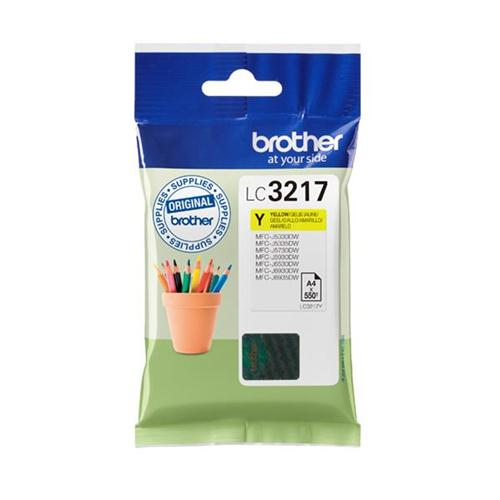 Brother Inkjet Cartridge Page Life 550pp Yellow Ref LC3217Y | 168708