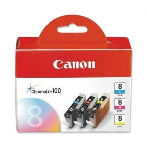 Canon CLI-8 Inkjet Cartridge Page Life 1977pp Cyan/Magenta/Yellow Ref CLI-8 [Pack 3] | 221204