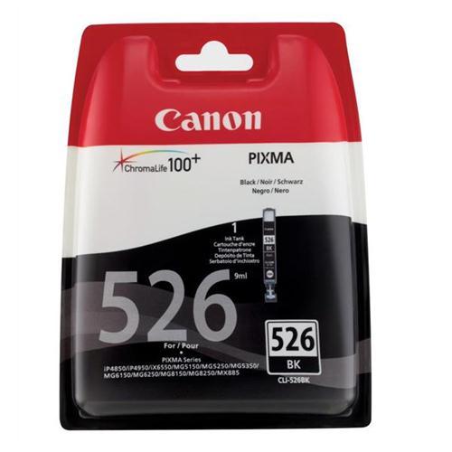 Canon CLI-526BK Inkjet Cartridge Page Life 2185pp Black Ref 4540B001 | 223878