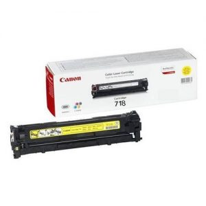 Canon CRG-718Y Laser Toner Cartridge Page Life 2900pp Yellow Ref 2659B002 | 226855