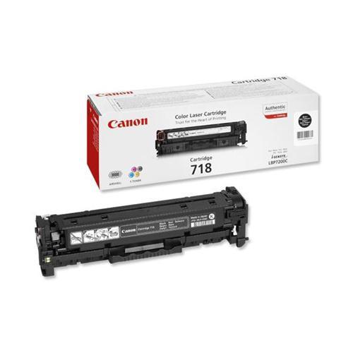 Canon CRG-718BK Laser Toner Cartridge Page Life 3400pp Black Ref 2662B002   226903