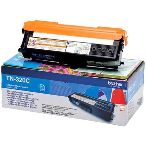 Brother Laser Toner Cartridge Page Life 1500pp Cyan Ref TN320C | 256244