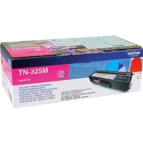 Brother Laser Toner Cartridge Page Life 3500pp Magenta Ref TN325M   256285