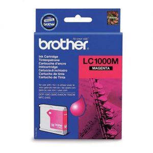 Brother Inkjet Cartridge Page Life 400pp Magenta Ref LC1000M | 346629