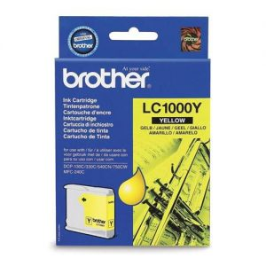 Brother Inkjet Cartridge Page Life 400pp Yellow Ref LC1000Y   346726
