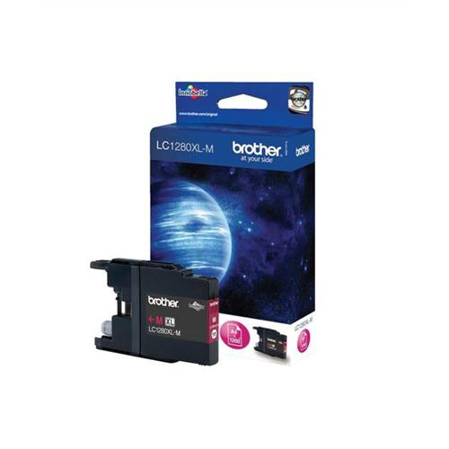 Brother Inkjet Cartridge High Yield Page Life 1200pp Magenta Ref LC1280XLM | 348744